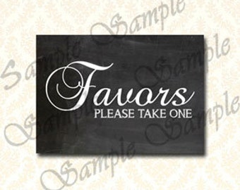 Favors Sign, Wedding Signs Favor Please Take One, Printable Party Favor Table Sign, Instant Download Chalkboard Winter Wedding Signs 187