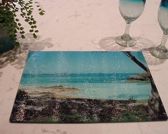 Spanish Point Glass Cutting Board