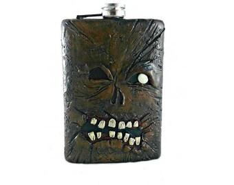 Necronomicon 8 oz Flask, Evil Dead Flask