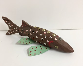 Folk Art Fish/ Handmade Fishing Lure/ Vintage Fish Lure/ Vintage Folkart/ Vintage Cabin Decor/ Vintage Fishing
