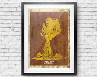 Fallout Mushroom Print