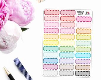 Multi-Color // Scallop Labels