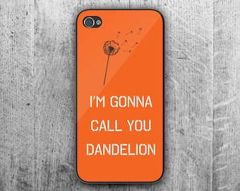 "Orange and Black ""Dandelion"" phone case for - iPhone 4/4S - iPhone 5/5S/5SE - iPhone 5C - iPhone 6/7 - iPhone 6/7 Plus"