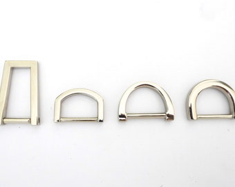 """4 PCS silver/chrome metal D-ring for bag/tote/luggage (  for 1/2 """" to 3/4"""" strap)"""