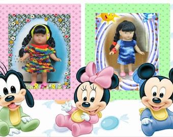 2 dresses for doll 20 cms Mini Corolline