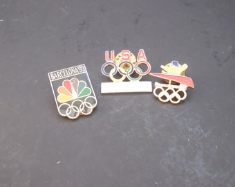 Lot of 3 Olympics Lapel Pins from Barcelona 1992