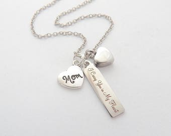 Urn Jewelry-Memorial Cremation Jewelry-Ashes Necklace-URN Jewelry-Mom SYMPATHY Necklace- Loss of mother-Mom Cremation Necklace-Urn for Ashes