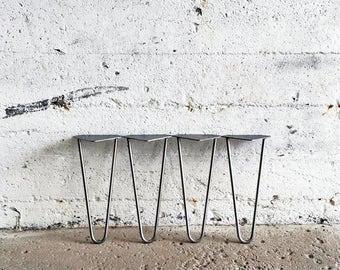 Set of 4 Hairpin Legs | 4'' 6'' 8'' 10'' 12'' 14'' 16'' 18'' 20'' | Bench Table Legs Metal Steel Legs DIY Leg. Made in Montreal