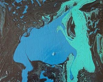 Abstract Art/ Modern Abstract Art/ Fluid Art/ Abstract Painting/Wall Art/ Small Painting/Canvas/Art/Contemporary Art/ Interior Design