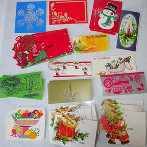 Plus mark cards etsy vintage christmas gift tags cards collection mixed lot of hallmark american greetings plus mark m4hsunfo Choice Image