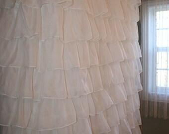 Custom Ruffled Curtain - Voile/Sheer Starting at: