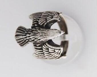 Sterling Eagle ring, eagle jewellery, Eagle men ring, Mens eagle ring, Eagle head ring, Mens Eagle Ring, Silver Eagle Ring