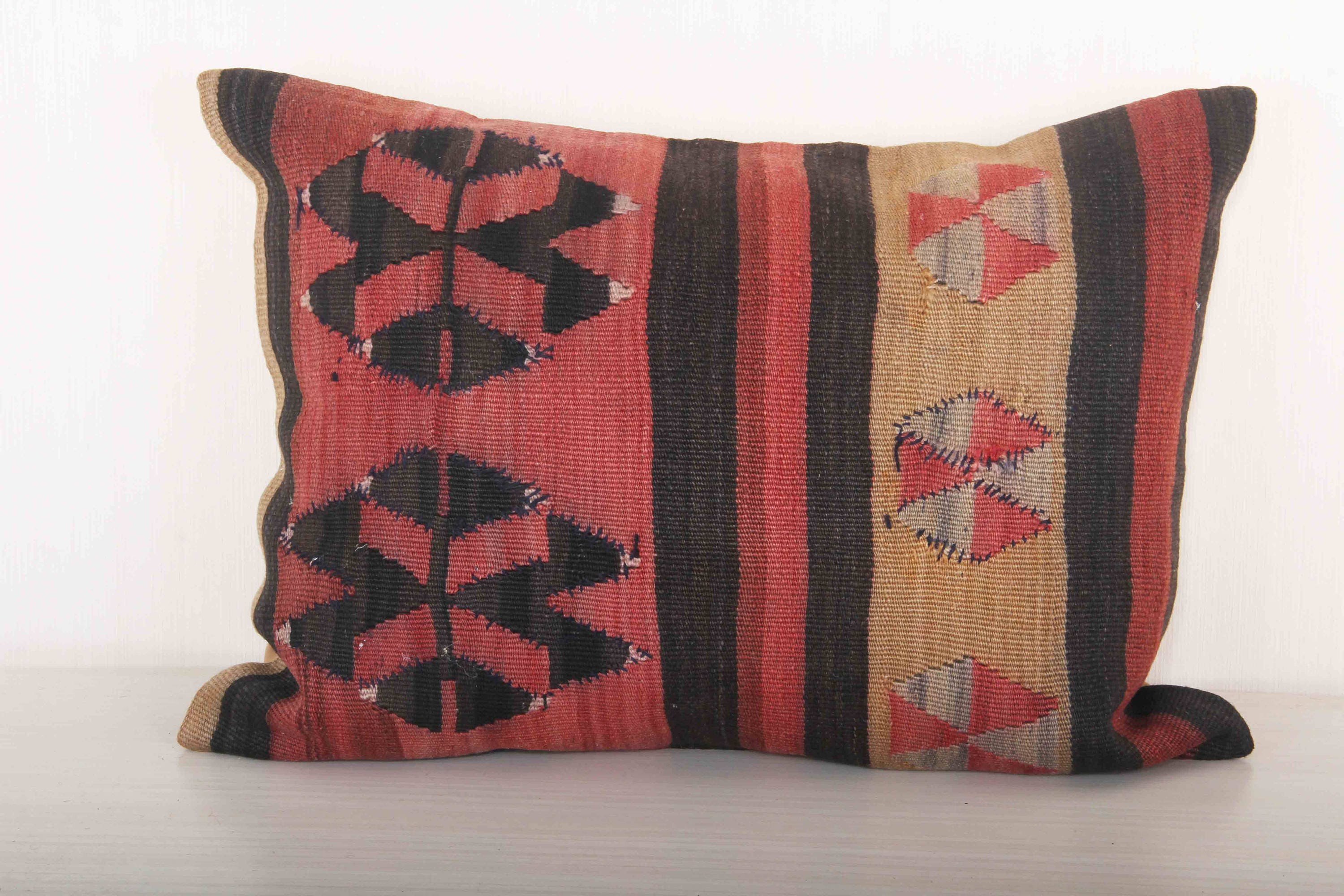 red and black pillow cover 15x15 bed throw pillows kilim