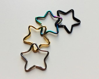 Star | Shaped Hoop | Piercing | Earring | Tragus | Daith | Cartilage | Body Jewellery | Choice Of Colours