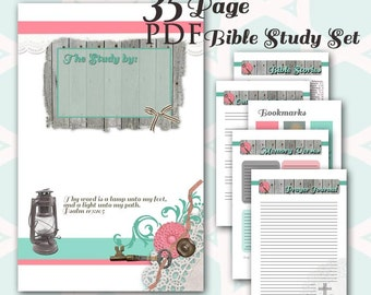 A5/Half Size BIBLE Study Planner - Journal 35 PDF Printables - Prayer Reminders -Study Notes -Reference Pages -Topical Study - Speaker Notes