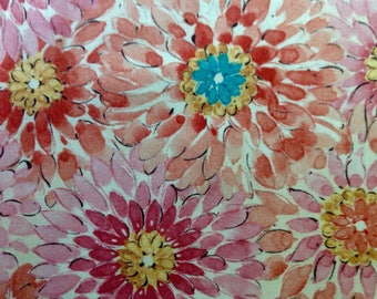 Gypsy Glamour by Chandelier for Robert Kaufman Fabrics/Large Scale Floral Print/Premium Quilting Sewing Craft Fabric/HALF Yard Pricing