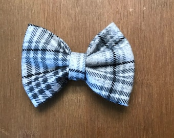 Gray flannel girl/baby/toddler bow