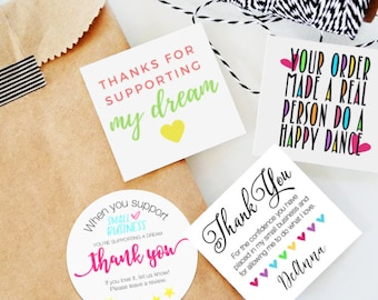 The Gratitude Bundle | 50 stickers | Small Shop Packaging Stickers