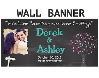 Engagement Party Banner  ~ Wedding Shower Personalized Party Banners, Bridal Shower Banners, Personalized Banners, Custom Banners