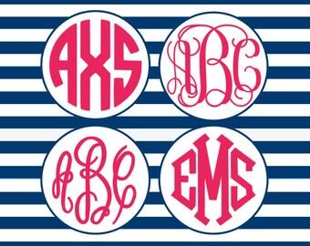 SVG Fonts, Circle Monogram SVG, Vine Monogram SVG, Fancy Monogram Svg, Diamond Monogram Svg, Svg Files, Eps, Png, Dxf, Font Bundle Svg
