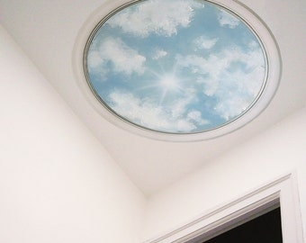 Sky Wall Sticker, Sky Wall Decal, Sky Ceiling Medallion,  Clouds Ceiling , Acrylic Wall Stickers, Fabric Stickers Clouds, Sky Wall Decal