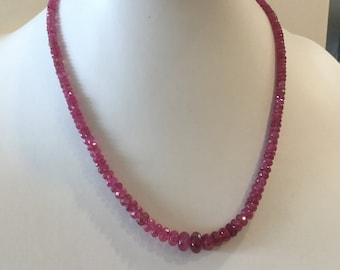 Ruby Beaded Necklace Strand