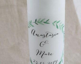"Vintage wedding candle motif ""olive-wedding"""