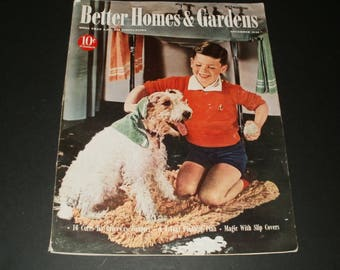 Vintage Better Homes and Gardens Magazine November 1940-- Art, Scrapbooking, Retro Ads, Cool Coca-Cola Ad