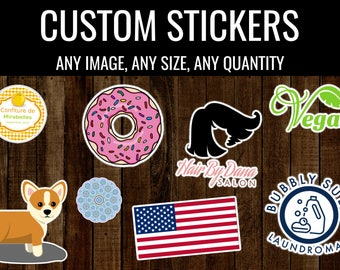 Custom Stickers (Labels, Personalized, Business, Weddings, Party, Gifts, Window, Decals for Laptops, Computers, Car Stickers, Notebook, Cute