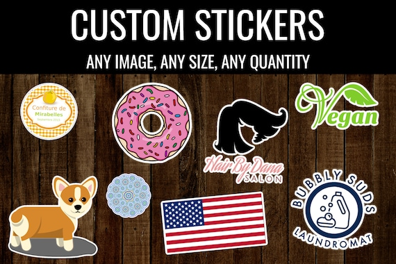 Custom stickers labels personalized business weddings party gifts window decals for laptops computers car stickers notebook cute