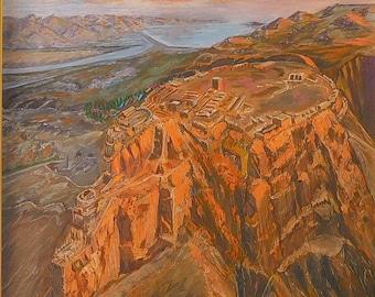 Картина «Масада» /Painting  «Masada»  - ватман, гуашь 40 х 30 см