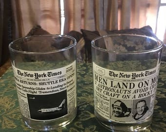 Set Of Wendy's New York Times Collector Glasses