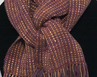 Handwoven Scarf (with gold highlights)
