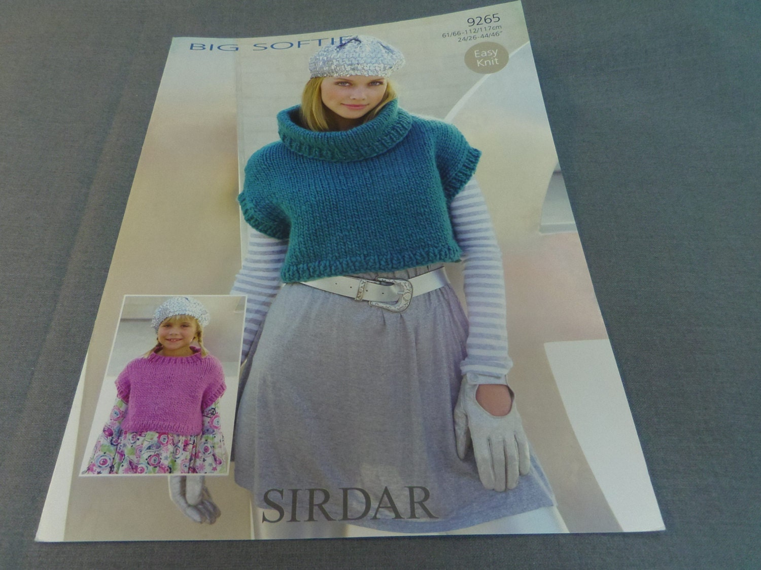 Knitting Pattern, Easy Knit Sirdar Sweater Top Childs and Adult 24 ...