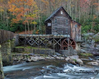 Glade Creek Grist Mill in Babcock State Park, WV #7439