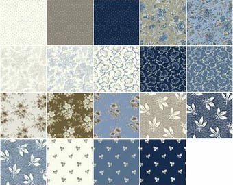 Blueberry Buckle 10-Inch Squares Layer Cake, 42 Pieces, Marsha McCloskey Collection, Clothworks, Precut Fabric, Quilt Fabric, Cotton Fabric