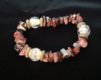 Vintage Pink Tourmaline Bracelet