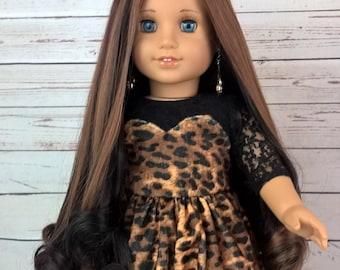 """Custom 10-11"""" Doll Wig Fits Most 18"""" Dolls """"Glazed Garnet""""- Heat Safe"""