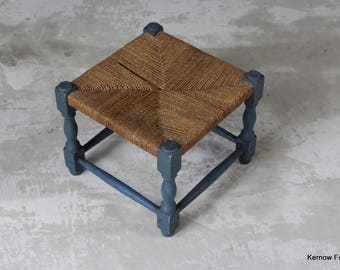Seagrass Blue Footstool