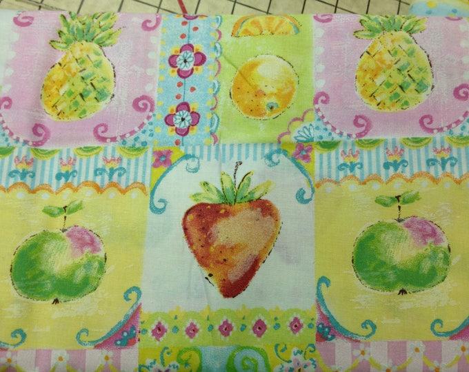 Tutti Frutti  100% cotton fabric, sold by the yard   #324