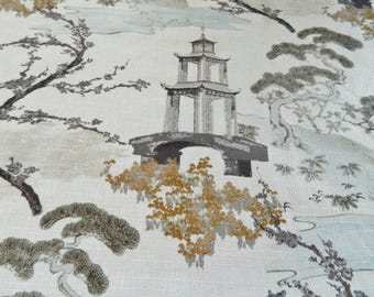 Regal R-ZEN In PEARL-Decorative Throw Pillow Cover Euro Pillow Cover / Asian / Chinoiserie / Pagoda