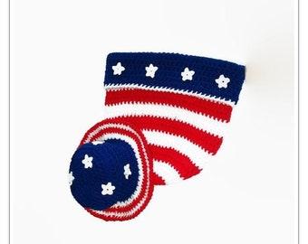 Crochet pattern,  patriotic baby, Baby sack, Bring baby home, Infant cocoon, sleeping bag, Crochet pattern baby, Baby crochet pattern