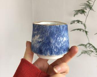 handmade porcelain pottery fur cup