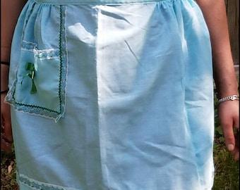 Pretty Light Blue Vintage Apron