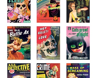 Pulp Art Stickers Theme 'Best of 9' Set - MYSTERY