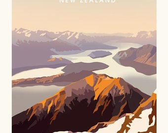Wanaka Vintage Style Poster