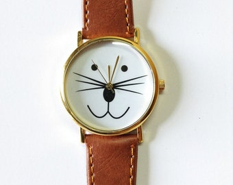 Cat Watch, Cat Jewelry, Cat Lover Gifts, Watches, Wrist Watch, Women Watches, Pet Lover Gift, Meow, Cat Accessories, Mens Watch, Cats, Cute