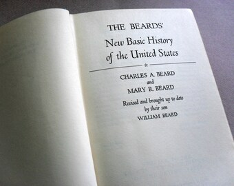 Vintage Book, The Beard's New Basic History of the United States