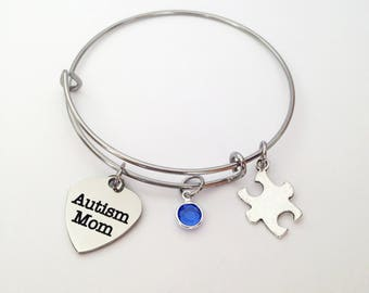 Autism Mom, Autism Awareness, Autism Jewelry, Autism Bracelet, Autism Awareness Bracelet, Puzzle Piece Jewelry, Autism Awareness Gifts