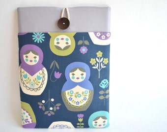 "MacBook Cover Case, Matryoshkas Russian Dolls MacBook Air Sleeve, 11"", 13.3"", MacBook Pro 13"" Case, Retina Display MacBook Padded Cover"
